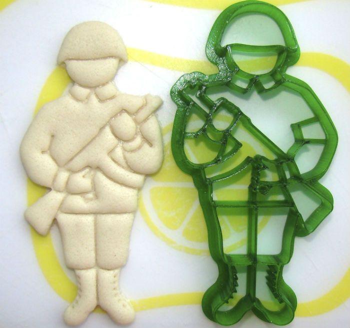 Солдат из соленого теста фото
