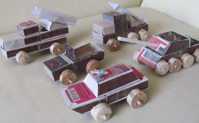 Поделки из коробков фото