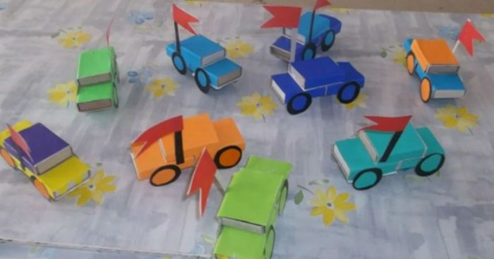 Машины из коробков фото