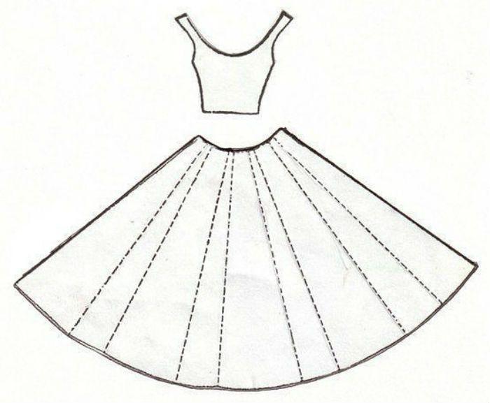 Открытка платье шаблон фото