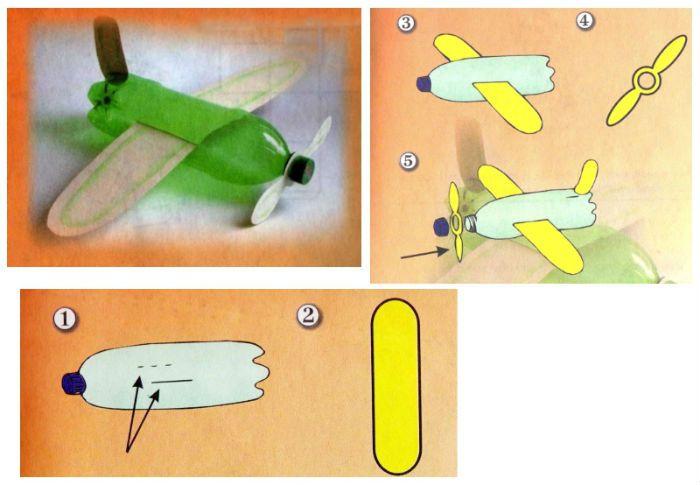 Инструкция поделка Самолет фото