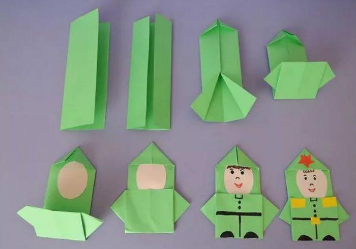 Солдат-оригами фото