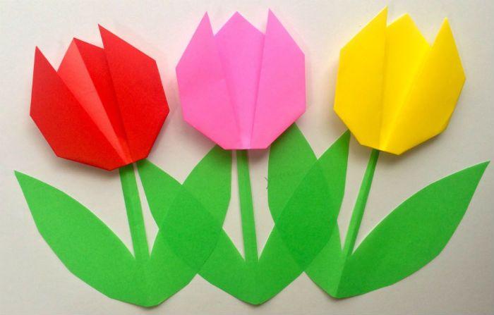 Тюльпаны оригами фото