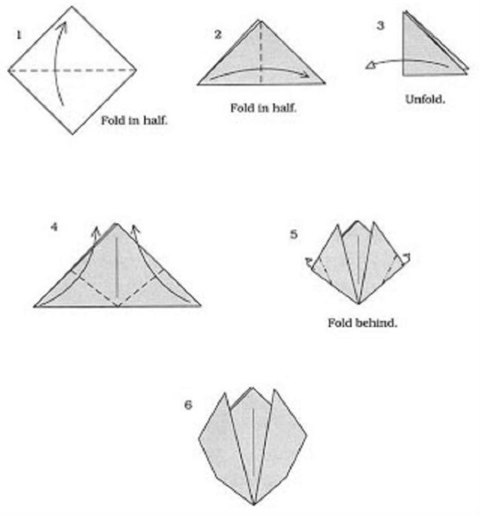 Схема 2 оригами тюльпан фото