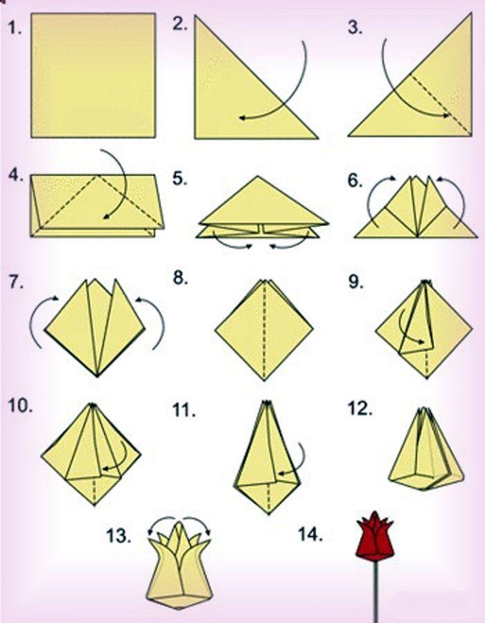 Схема объемных тюльпанов фото