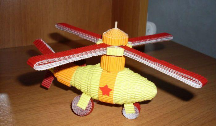 Вертолет поделка фото
