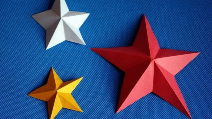 Звезда объемная фото