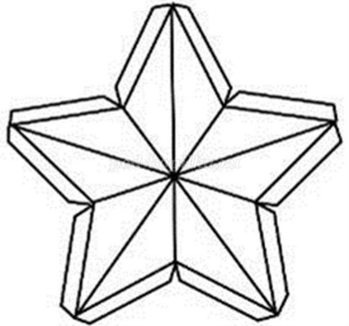 Шаблон объемной звезды фото