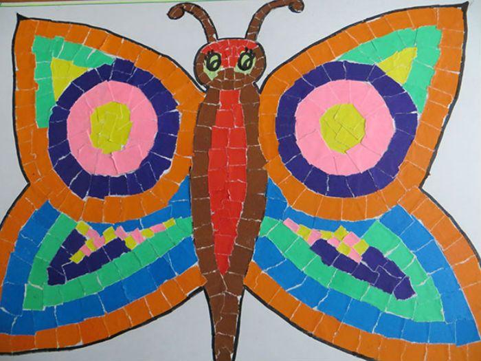 Аппликация бабочка  фото