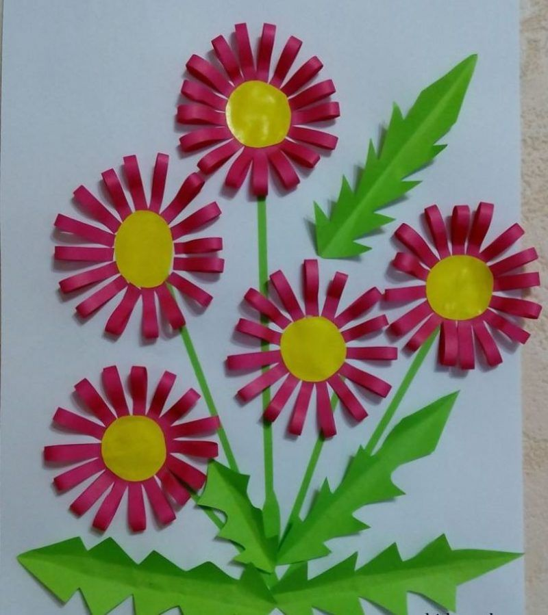 Аппликация цветы фото