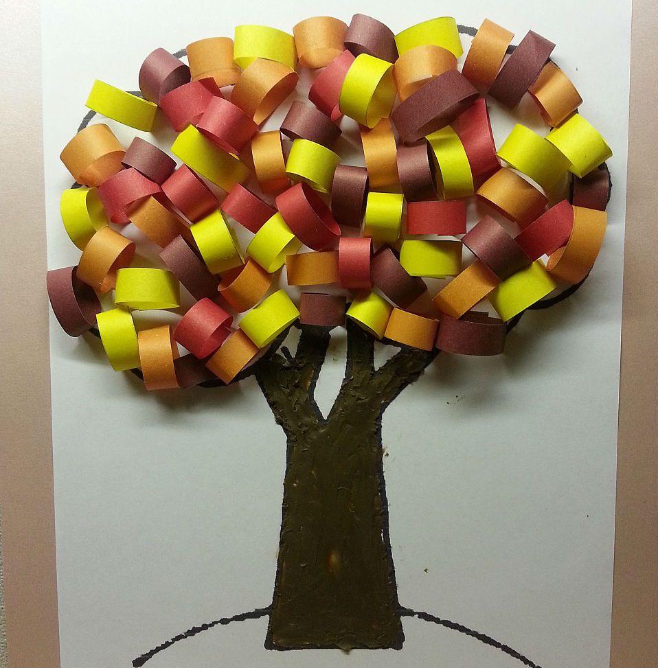 Аппликация дерево осеннее фото