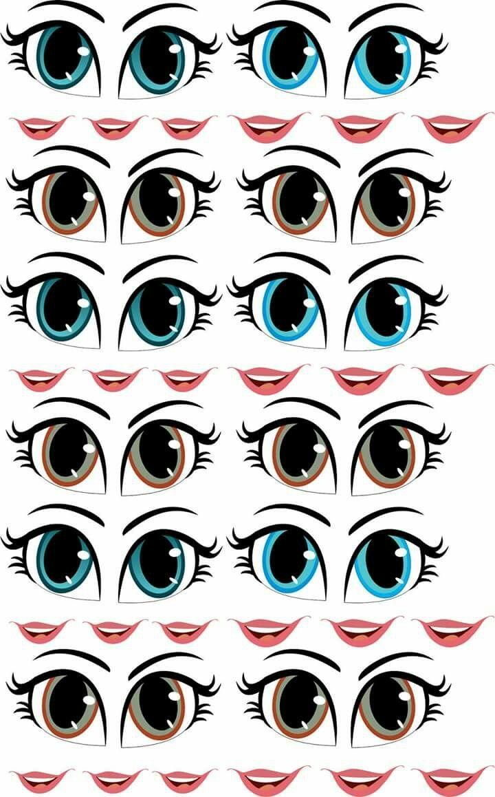 Глаза шаблон 4 фото