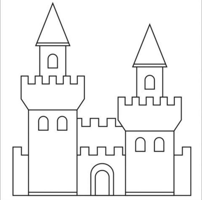 Аппликация замок шаблон фото