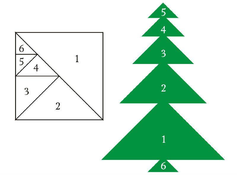 Аппликация из бумажных треугольников фото