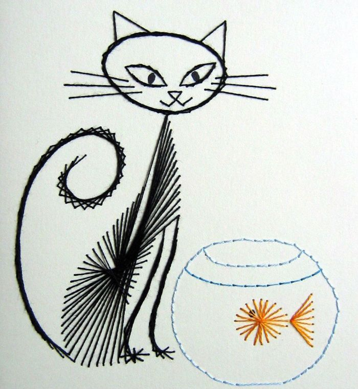Кошка с аквариумом схема фото