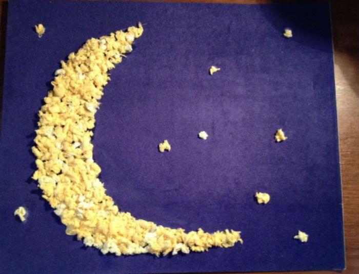 Аппликация луна и звезды фото