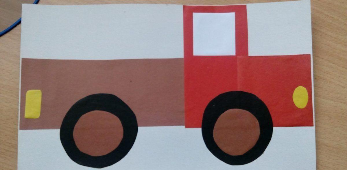 Аппликация грузовик фото