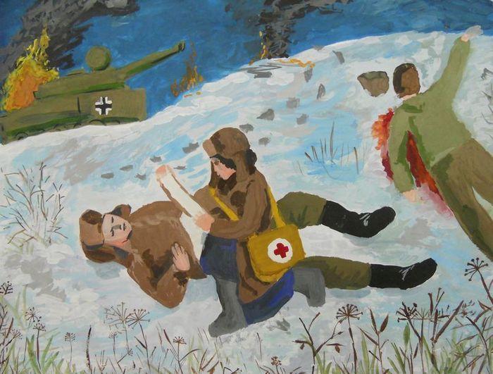 Война рисунок фото