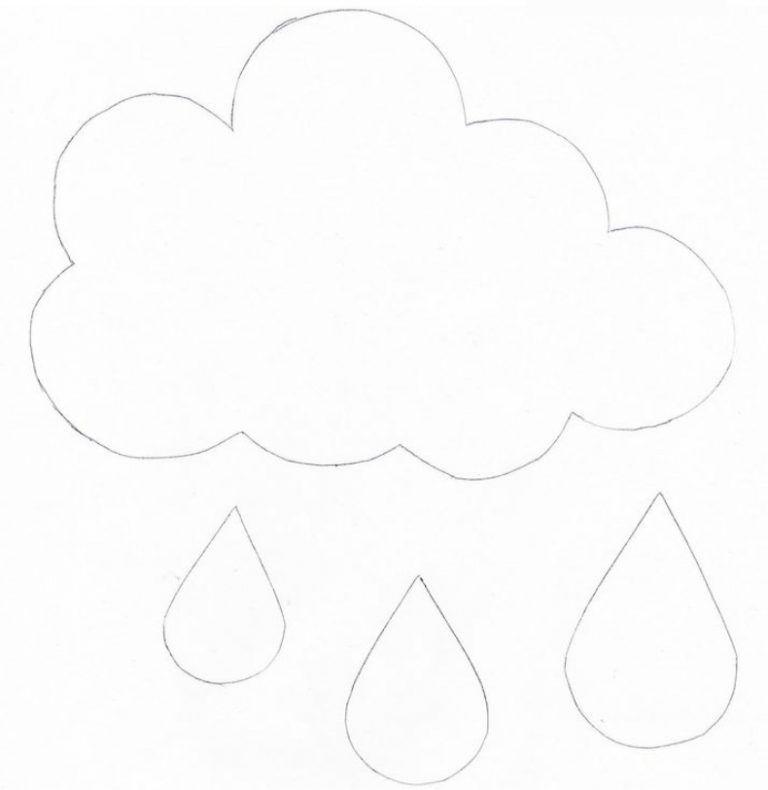 Аппликация облака шаблон фото