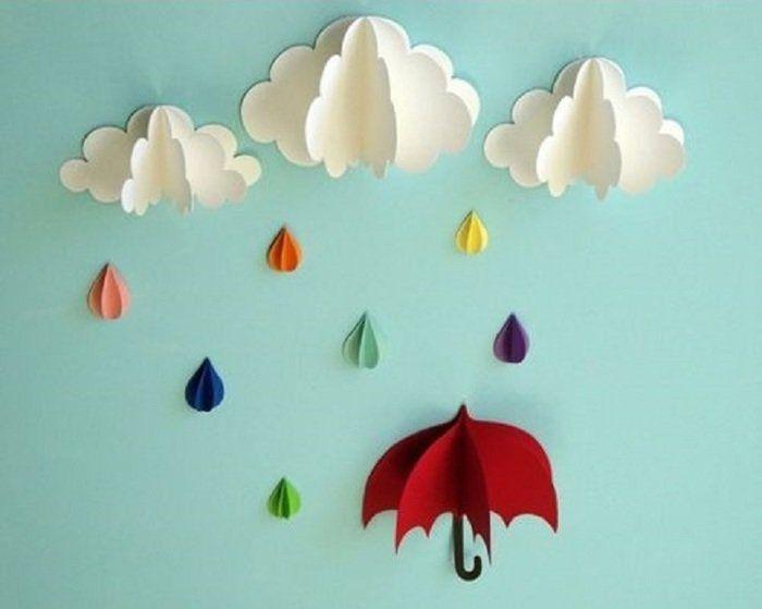 Аппликация облака и дождь фото