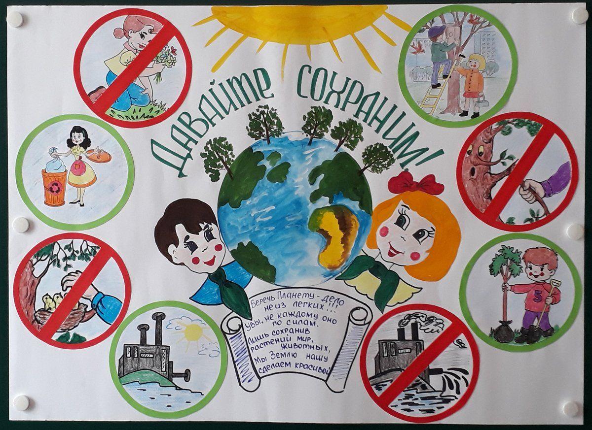 Плакаты о экологии рисунок фото
