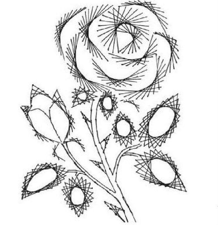 Схема приемов изонить роза фото