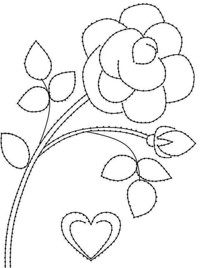 Шаблон розы изонить фото
