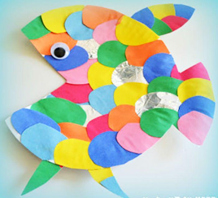 Аппликация рыбка тарелка фото
