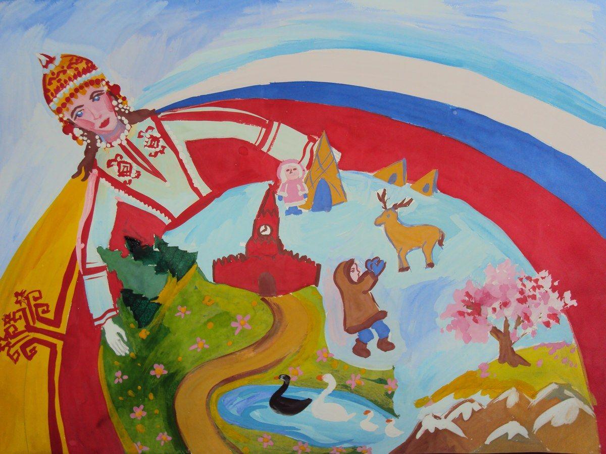 Слава России рисунок 2 фото