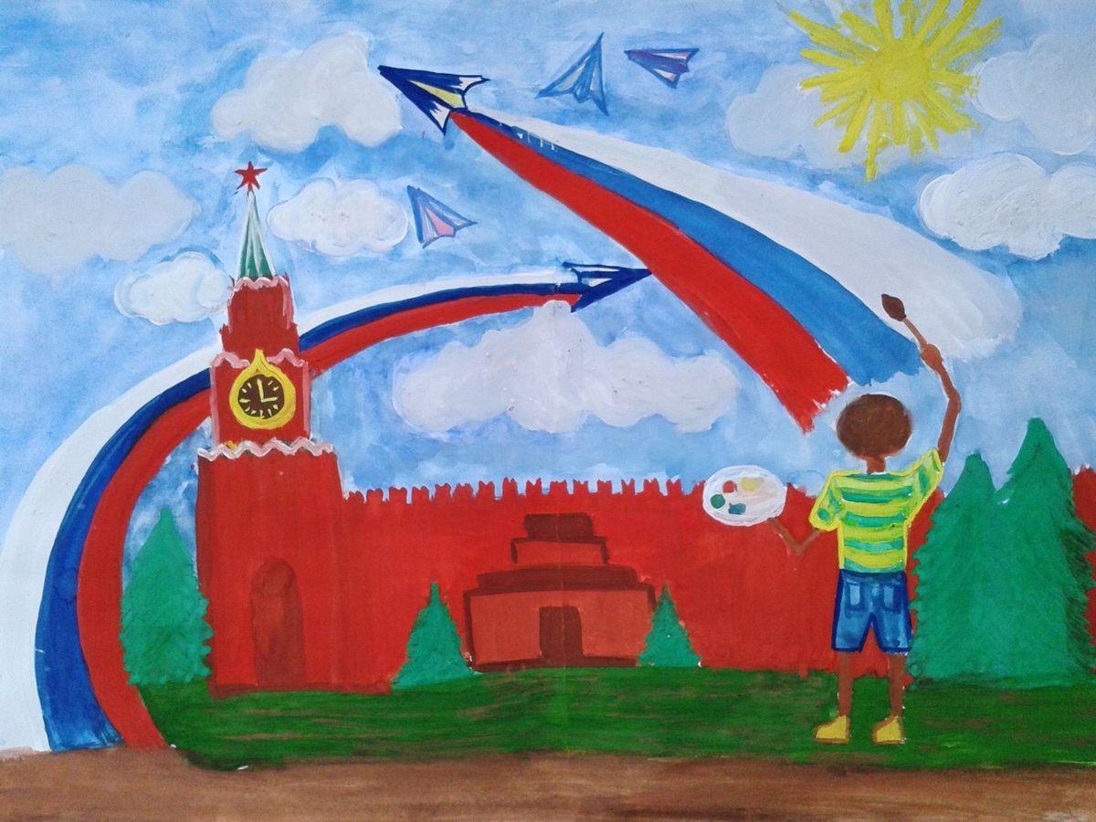 Слава России рисунок 3 фото