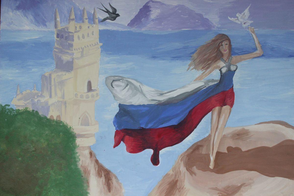 Слава России рисунок 4 фото
