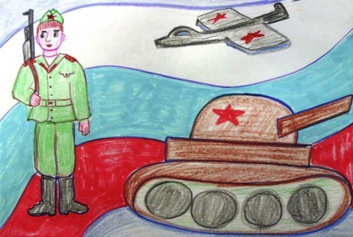 Служу России рисунок 3 фото