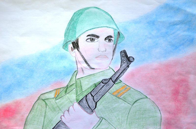 Служу России рисунок 9 фото