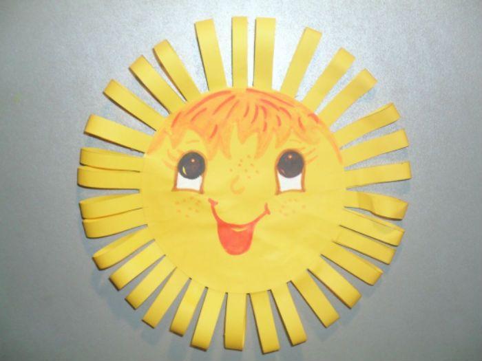 Аппликация солнышко фото