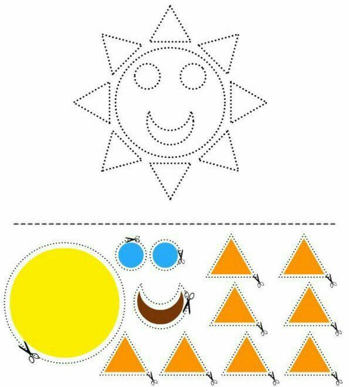 Аппликация солнце схема фото