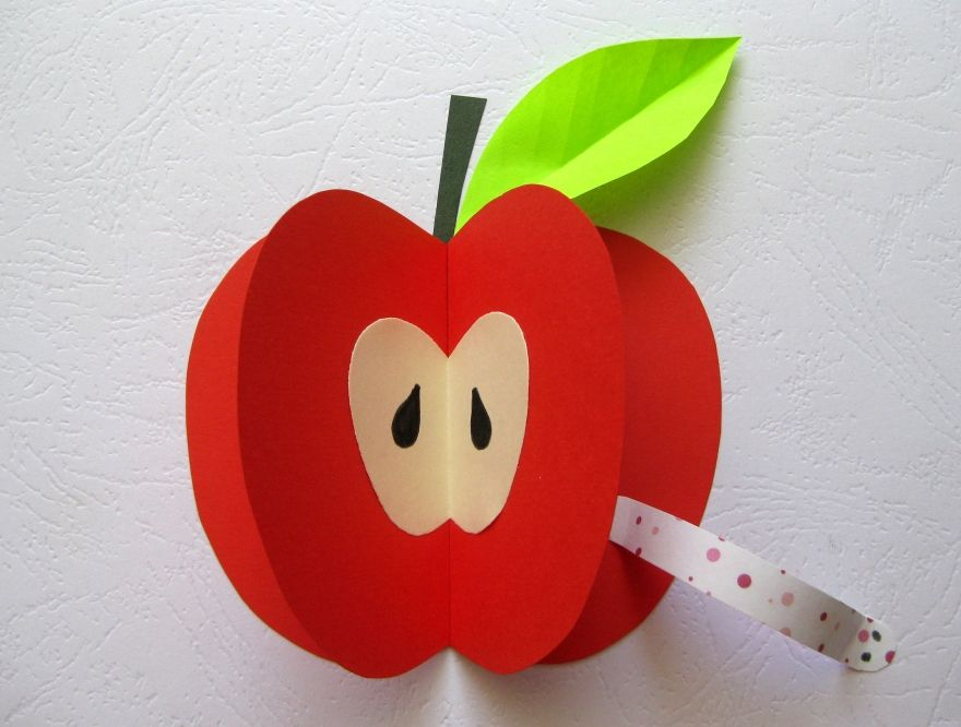 Аппликация яблоко фото