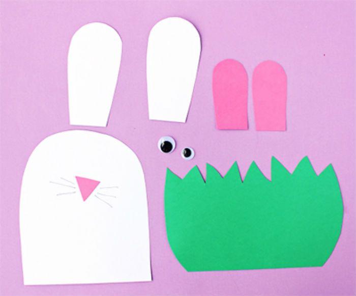 Аппликация заяц в траве детали фото