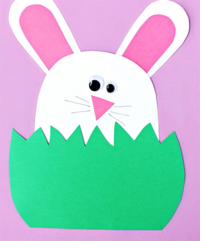 Аппликация заяц в траве фото