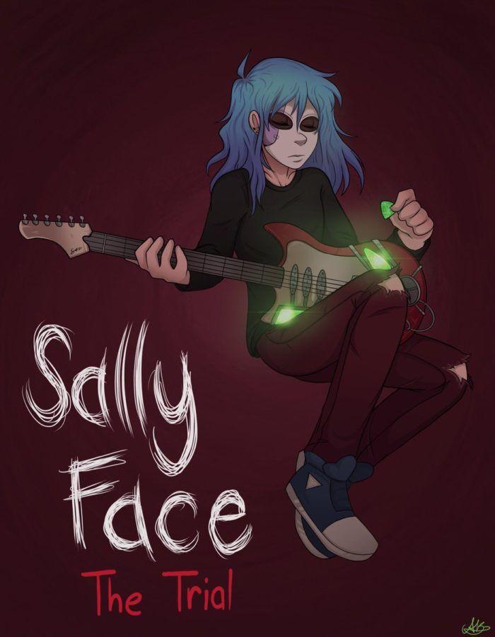 Салли Кромсали фанарт с гитарой