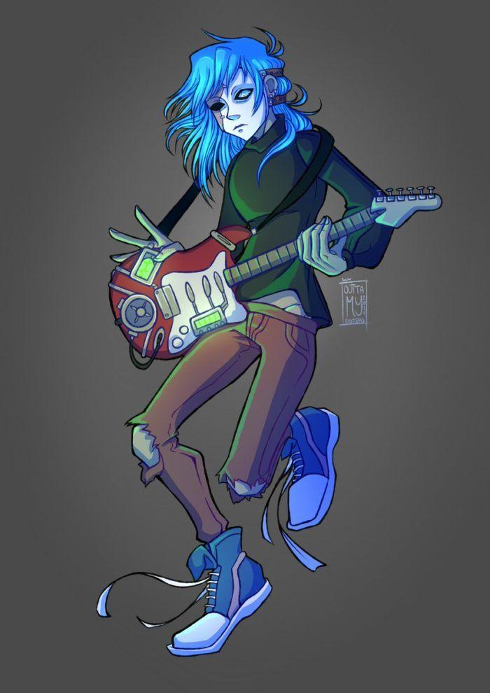 Салли Кромсали рисунок с гитарой