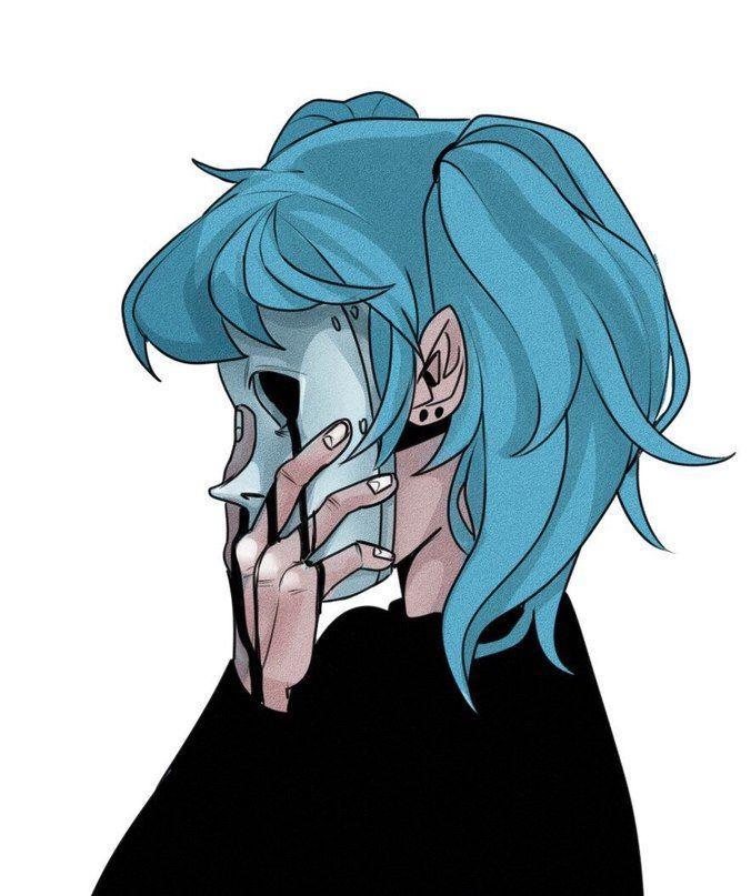 Салли Кромсали рисунок в профиль