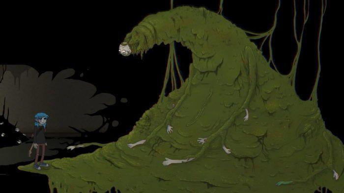 Салли Кромсали кадр с демоном