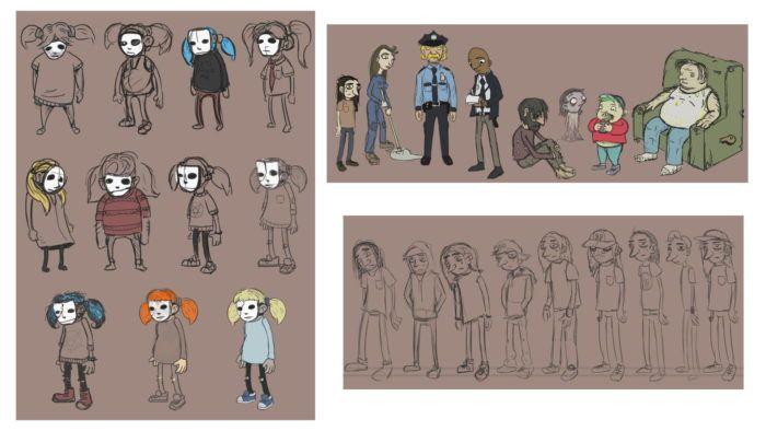 Салли Кромсали рисунки автора