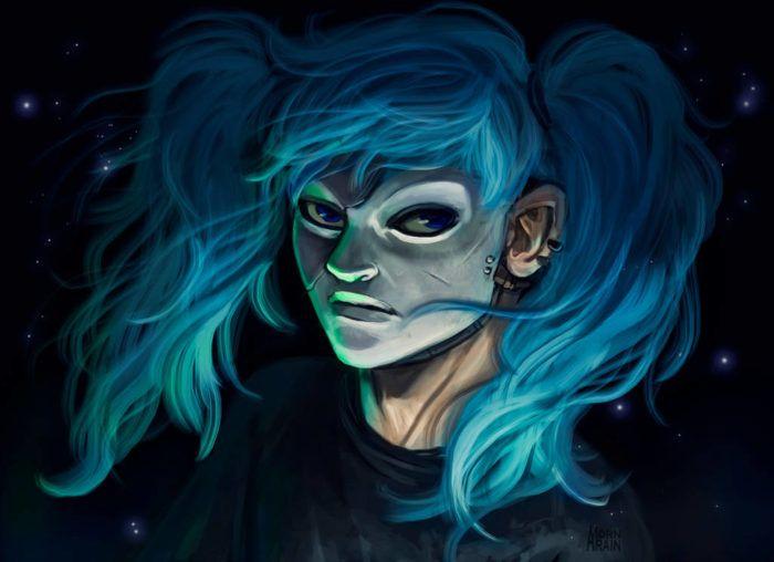 Салли Кромсали мрачный рисунок