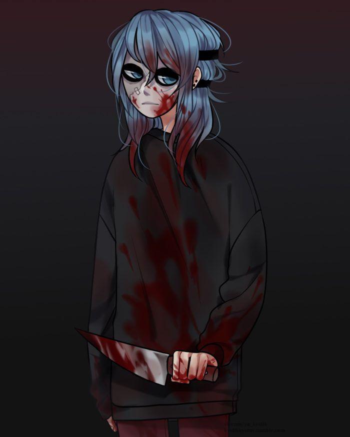 Салли Кромсали фото в крови
