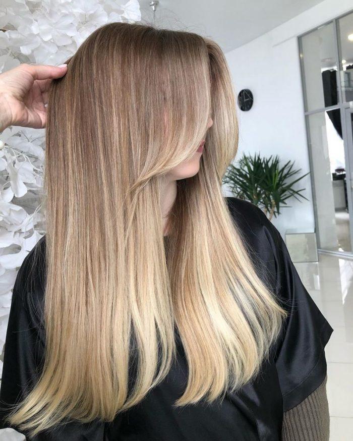 Модная стрижка на длинные волосы 2021