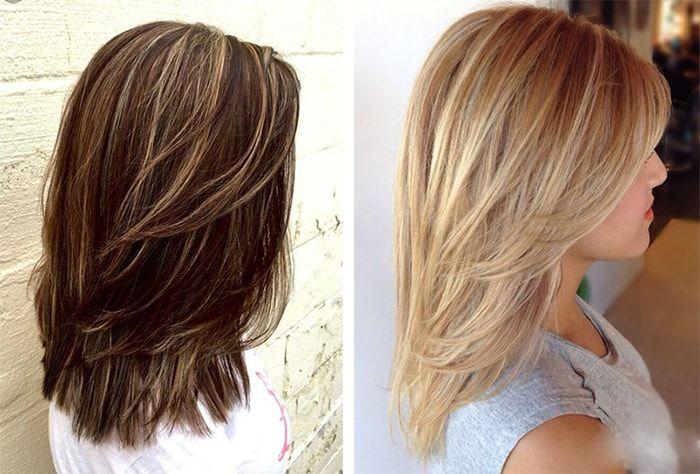 Стрижка каскад на средние волосы