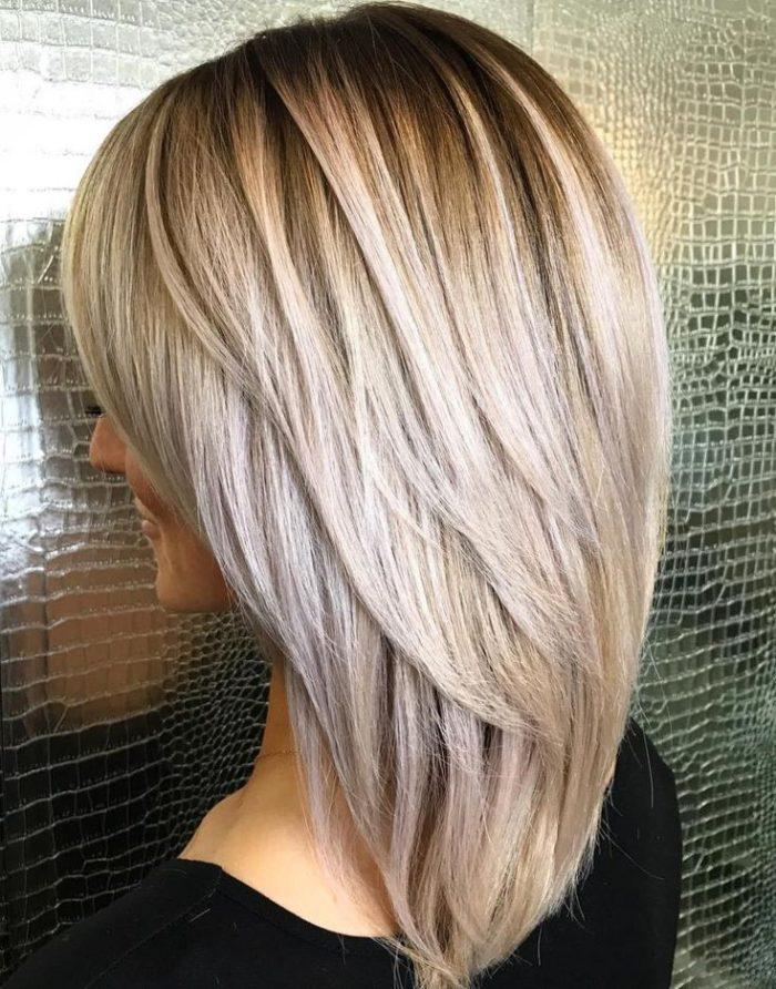 стрижка на волосы средней длины 2021