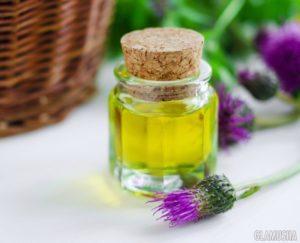 маска для волос на основе репейного масла